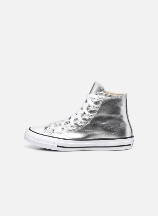 Sneaker Converse Chuck Taylor All Star Metallic Canvas Hi silber ansicht von vorne