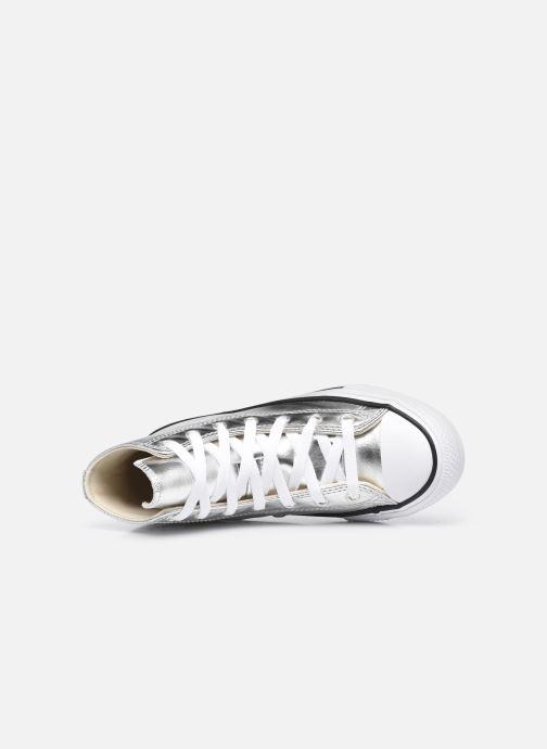 Sneaker Converse Chuck Taylor All Star Metallic Canvas Hi silber ansicht von links