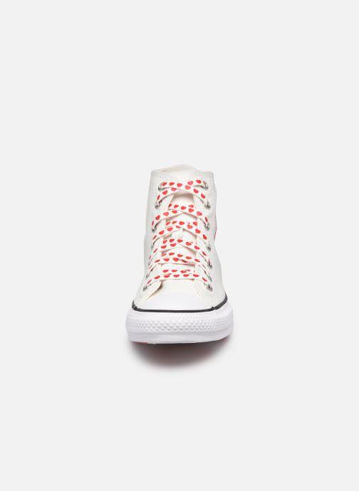 Sneaker Converse Chuck Taylor All Star Love Thread Hi weiß schuhe getragen