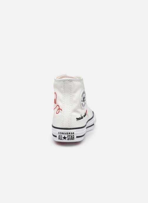Sneaker Converse Chuck Taylor All Star Love Thread Hi weiß ansicht von rechts