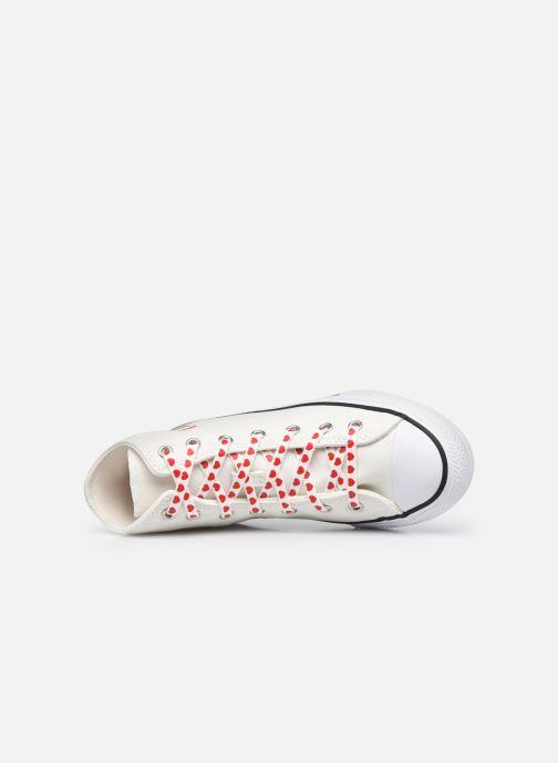 Sneaker Converse Chuck Taylor All Star Love Thread Hi weiß ansicht von links
