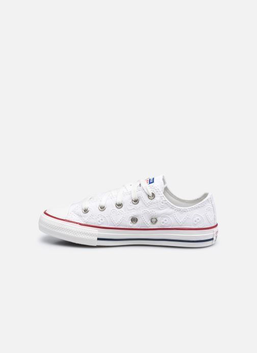 Sneakers Converse Chuck Taylor All Star Love Ceremony Ox Bianco immagine frontale