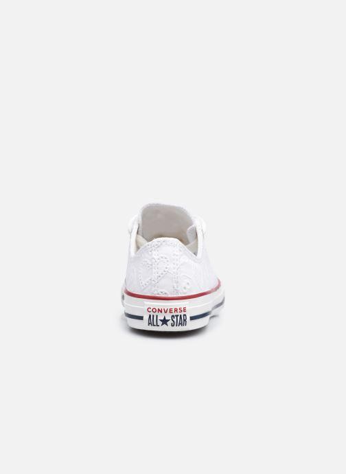 Sneakers Converse Chuck Taylor All Star Love Ceremony Ox Bianco immagine destra