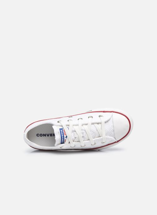 Sneakers Converse Chuck Taylor All Star Love Ceremony Ox Bianco immagine sinistra