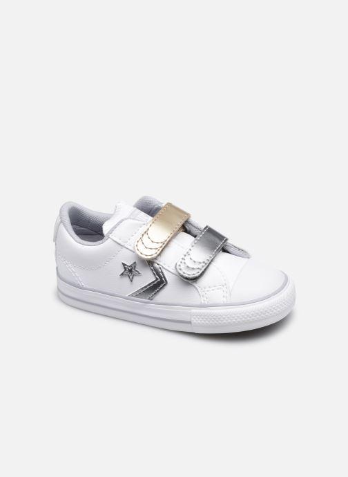 Sneaker Converse Star Player 2V Metallic Leather Ox weiß detaillierte ansicht/modell