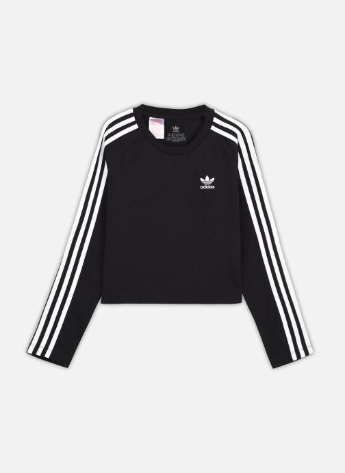 Vêtements adidas originals 3Stripes Crp Ls J Noir vue détail/paire