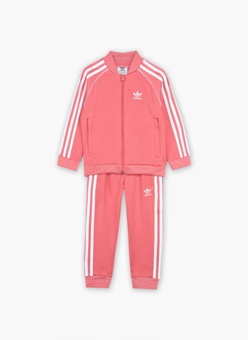 Vêtements adidas originals Sst Tracksuit K Rose vue détail/paire