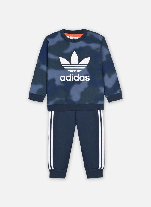 Kleding adidas originals Crew Set Blauw detail