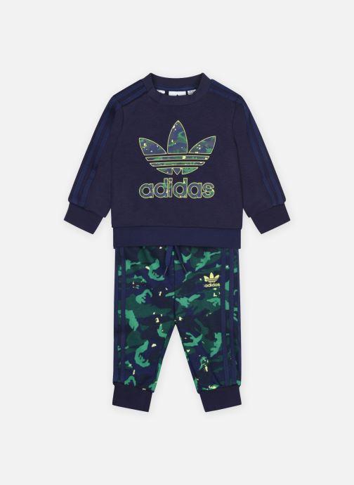 Vêtements adidas originals Crew Set Bleu vue détail/paire