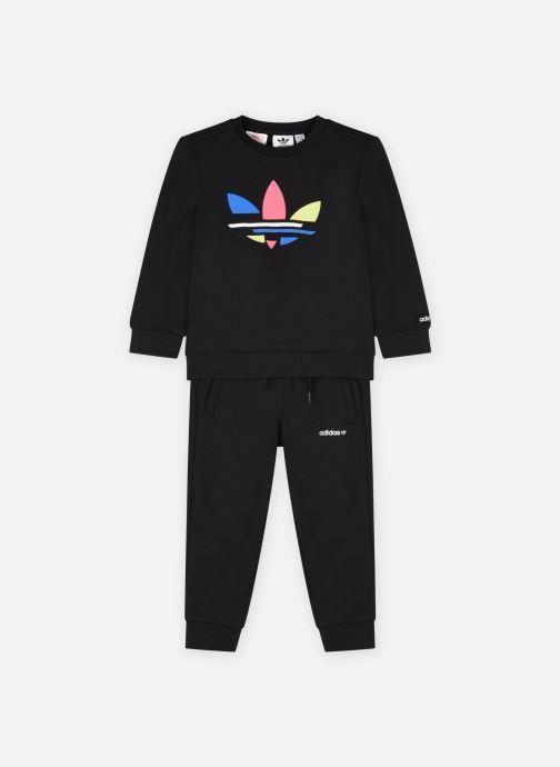 Vêtements adidas originals Crew Set Noir vue détail/paire