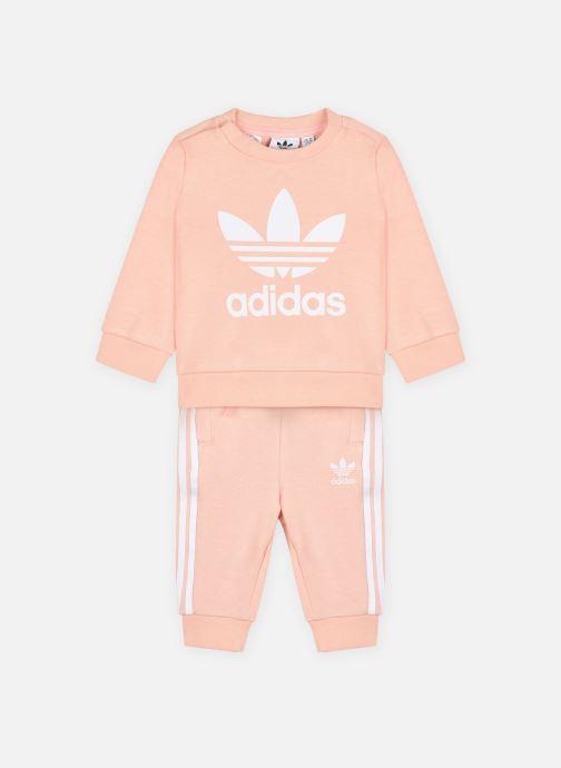 Kleding adidas originals Crew Set Roze detail