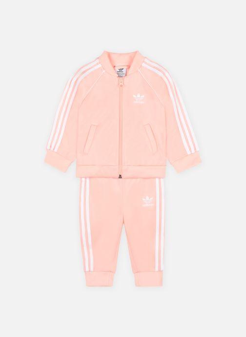 Kleding adidas originals Sst Tracksuit Roze detail