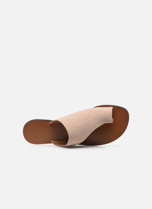Clogs & Pantoletten ATP Atelier Rosa beige ansicht von links