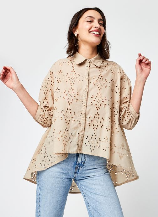 Kleding Y.A.S Yasprina Shirt Beige detail