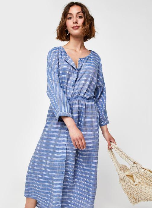 Kleding Y.A.S Yaselma Long Dress Blauw detail