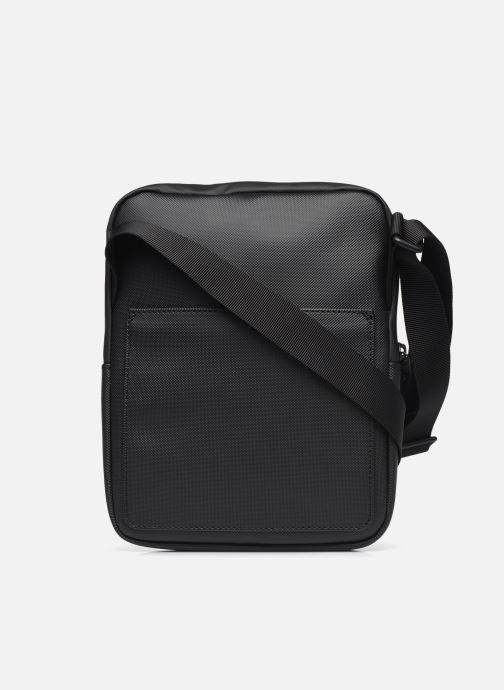 Borse uomo Lacoste M Flat Crossover Bag Nero immagine frontale