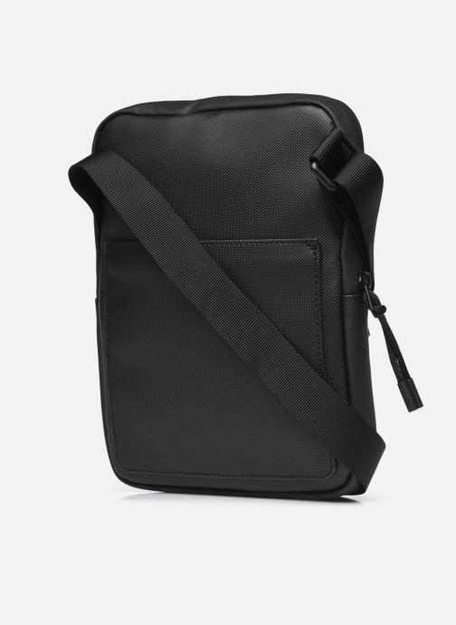 Borse uomo Lacoste M Flat Crossover Bag Nero immagine destra