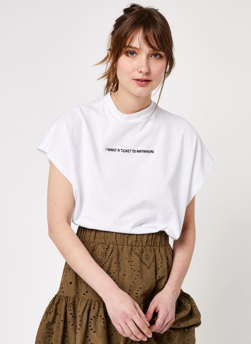 Vêtements Noisy May Nmhailey Top Blanc vue détail/paire