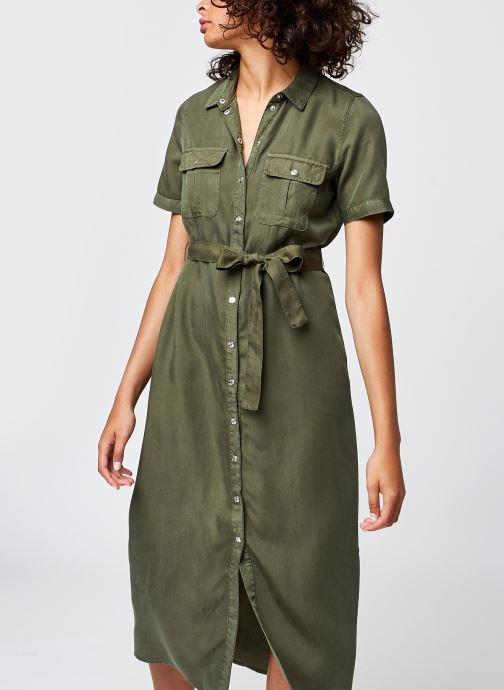 Kleding Noisy May Nmcersei S/S  Button Dress Clr Bg Groen detail