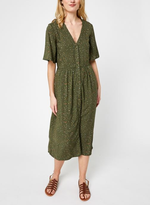 Kleding Noisy May Nmfiona 2/4 Calf Dress Sp Groen rechts