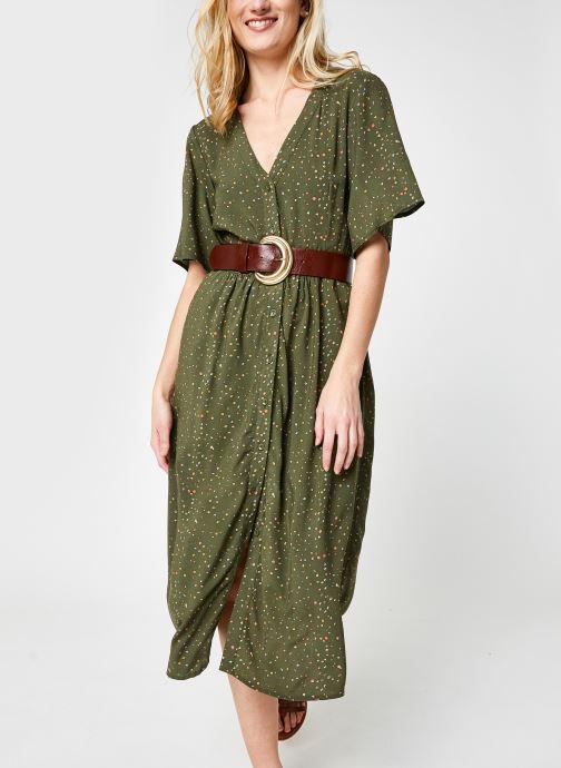 Vêtements Noisy May Nmfiona 2/4 Calf Dress Sp Vert vue détail/paire