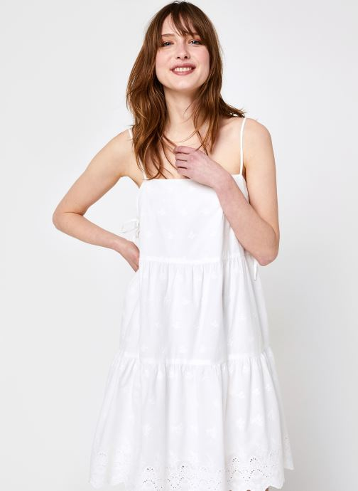 Ropa Noisy May Nmjackie S/L Short Dress Blanco vista de detalle / par