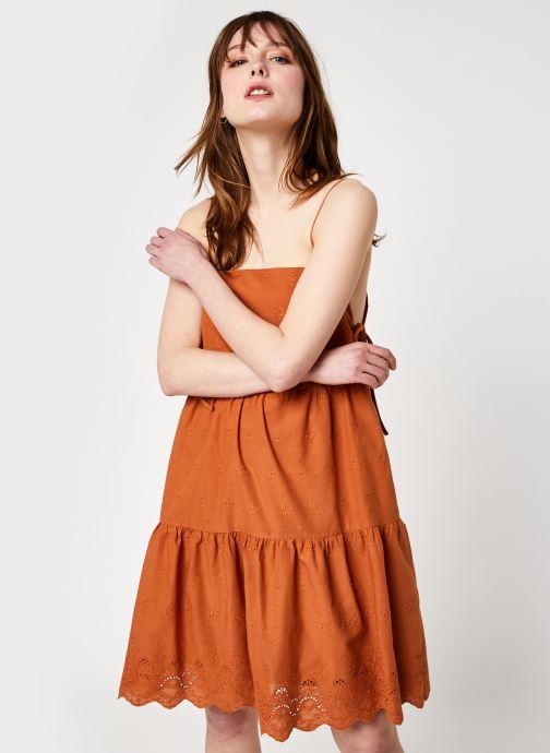 Kleding Noisy May Nmjackie S/L Short Dress Bruin detail
