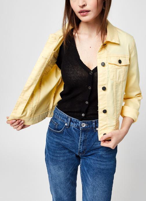 Kleding Noisy May Nmdebra L/S Colour Denim Jacket S* Geel detail
