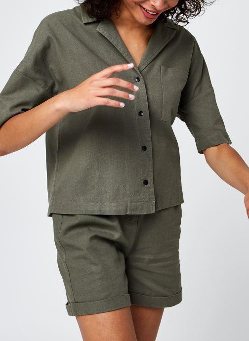 Kleding Noisy May Nmlinny 2/4 Shirt Groen detail