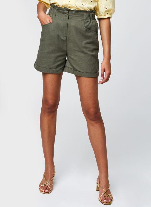 Vêtements Noisy May Nmlinny Hw Shorts Vert vue détail/paire