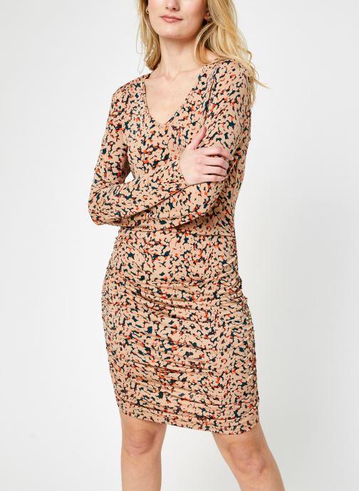 Kleding Noisy May Nmfestive V-Neck Mini Dress Bruin detail