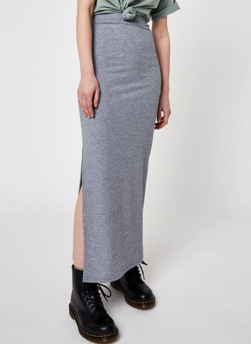 Kleding Noisy May Nmmox Long Skirt Grijs detail