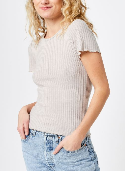 Kleding Noisy May Nmberry O-Neck Top Beige rechts