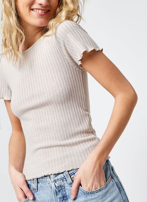 Kleding Noisy May Nmberry O-Neck Top Beige detail