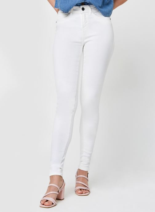 Vêtements Noisy May Nmlucy Jeans Blanc vue détail/paire