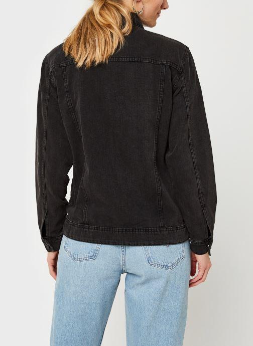 Kleding Noisy May Nmole Black Denim Jacket Zwart model