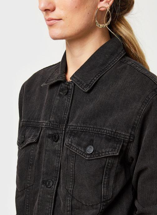 Kleding Noisy May Nmole Black Denim Jacket Zwart voorkant