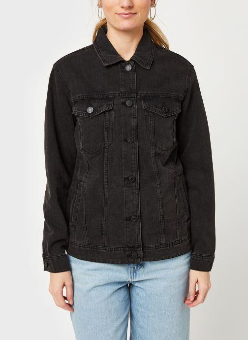 Kleding Noisy May Nmole Black Denim Jacket Zwart rechts