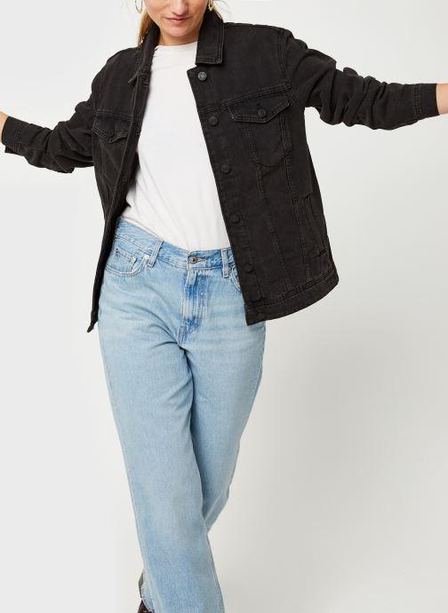 Kleding Noisy May Nmole Black Denim Jacket Zwart detail