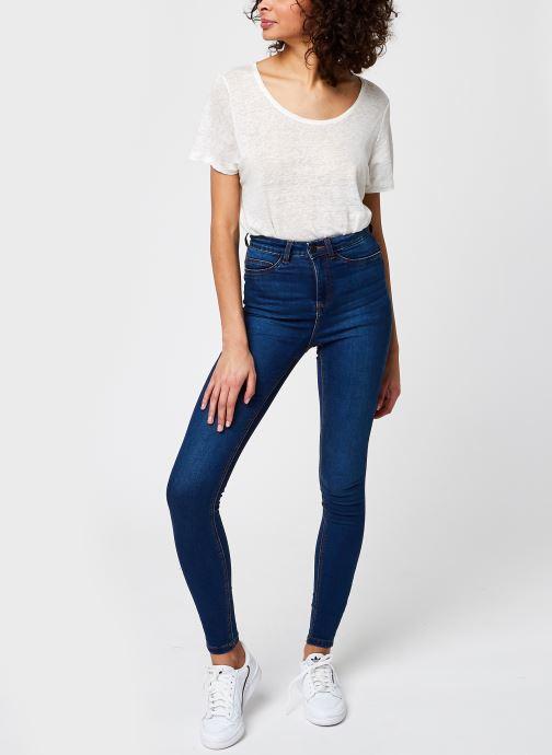 Kleding Noisy May Nmcallie Skinny Jeans Blauw onder