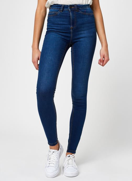 Kleding Noisy May Nmcallie Skinny Jeans Blauw detail