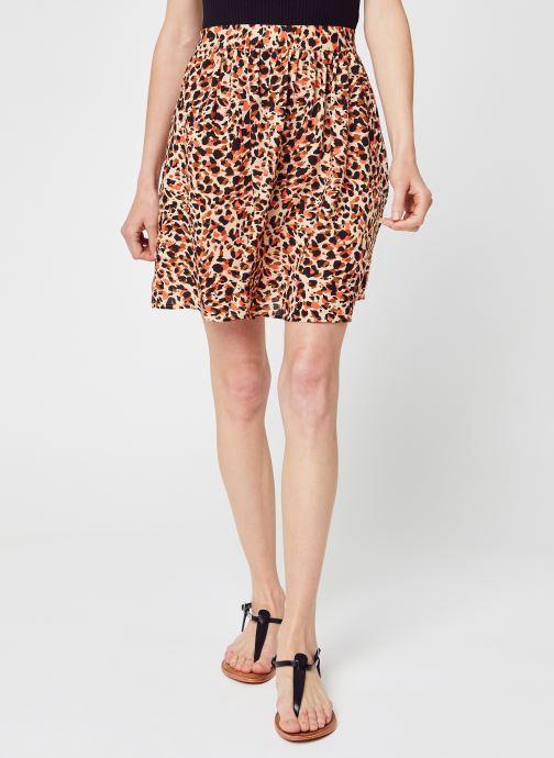 Vêtements Pieces Pcnya Mw Skirt Bf Bc Orange vue détail/paire