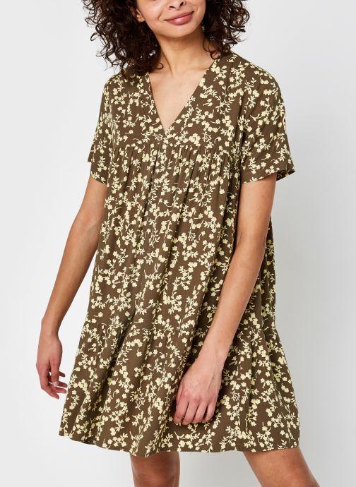 Vêtements Pieces Pcnadin Ss Dress Vert vue détail/paire
