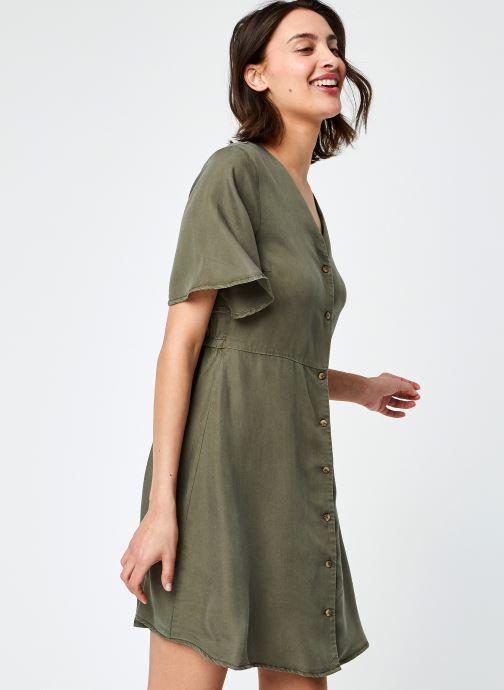 Vêtements Pieces Pcoti Ss Dress Kac Fc Bc Vert vue détail/paire