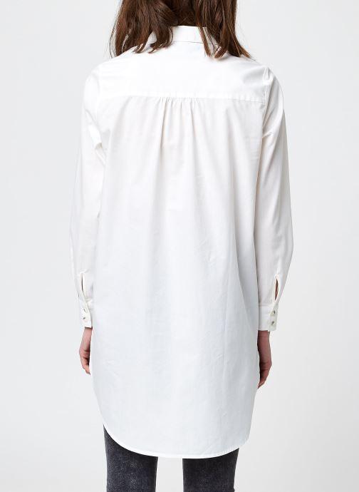Kleding Pieces Pcnoma Long Shirt Wit model