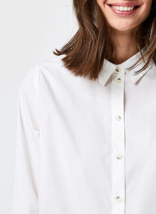 Kleding Pieces Pcnoma Long Shirt Wit voorkant