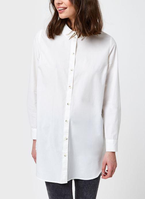 Kleding Pieces Pcnoma Long Shirt Wit rechts