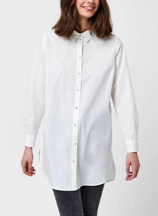 Vêtements Pieces Pcnoma Long Shirt Blanc vue détail/paire