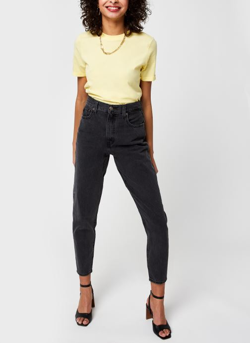 Kleding Pieces Pcria Fold Up Solid Tee Geel onder