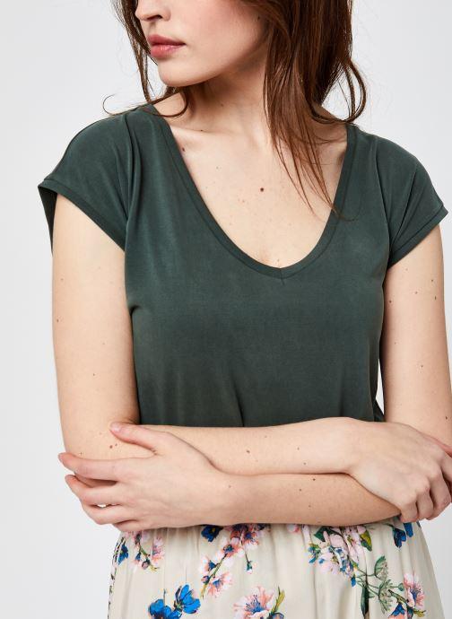 Vêtements Pieces Pckamala Tee Noos Bc Vert vue détail/paire